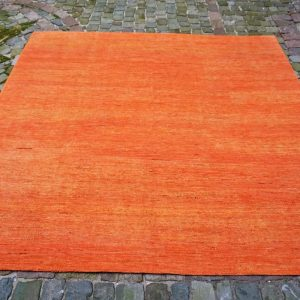 21810 Afghan/Uni Orange Silk 231x242cm